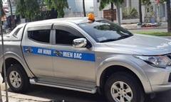Chiếc xe bán tải có dòng chữ 'An Ninh Miền Bắc' dễ gây hiểu nhầm