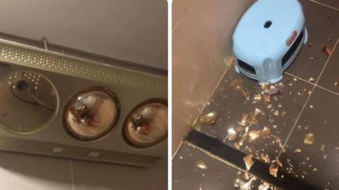 Đèn sưởi nhà tắm bất ngờ nổ: Nguy cơ hoả hoạn, nguy hiểm khó lường vào mùa đông