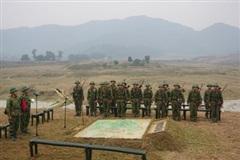 Huấn luyện ở Trung đoàn Thành đồng Biên giới