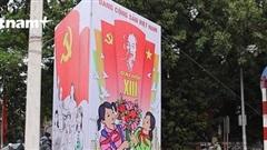 Thủ đô Hà Nội rộn ràng cờ hoa trước thềm Đại hội Đảng XIII