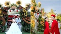 Choáng ngợp với cổng cưới rồng phượng 'siêu to khổng lồ', cô dâu tiết lộ chi phí 'giật mình'