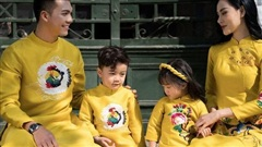Tết sum vầy trong BST áo dài gia đình Ceilio Design