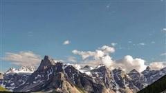 Khung cảnh ngoạn mục về địa hình miền núi hoang dã Canada