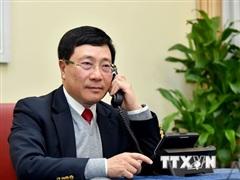 PTT Phạm Bình Minh điện đàm với Bộ trưởng Bộ Ngoại giao Brunei
