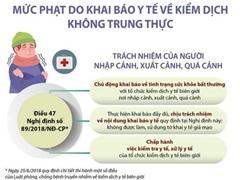 Mức phạt do khai báo y tế về kiểm dịch không trung thực