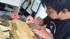 Biến vỏ tràm, bẹ chuối, vải cũ thành tranh độc lạ giá tiền triệu