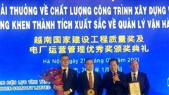 Công trình Nhà máy điện Vĩnh Tân 1 nhận giải thưởng về chất lượng của Bộ Xây dựng