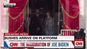 Video: Cận cảnh hình ảnh 3 cựu tổng thống Mỹ đến dự lễ nhậm chức của ông Joe Biden