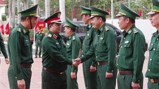 Chính ủy Quân khu V thăm, kiểm tra và chúc Tết tại Bộ Chỉ huy BĐBP Đắk Lắk