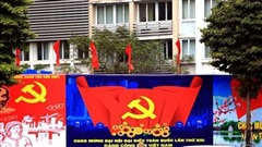 Hà Nội 'khoác áo mới' rực rỡ chào mừng Đại hội Đảng