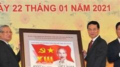 Phát hành đặc biệt bộ tem chào mừng Đại hội Đảng lần thứ XIII