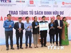 Đoàn Thanh niên TTXVN trao tặng Tủ sách Đinh Hữu Dư tại Hà Tĩnh