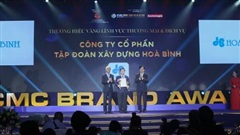Tập đoàn Xây dựng Hòa Bình nhận giải Thương hiệu Vàng TP Hồ Chí Minh
