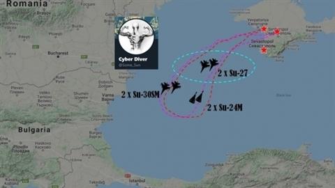 6 máy bay Nga uy hiếp chiến hạm Mỹ