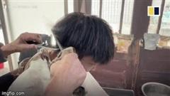Video: Dùng thanh sắt nóng, cụ ông cắt tóc cho khách suốt hơn 70 năm