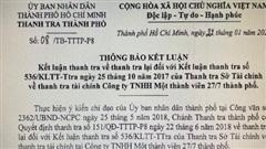 Thanh tra TP HCM kết luận gì về 6 kiến nghị UBND TP chỉ đạo chuyển công an của Thanh tra Sở Tài chính?