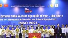 Việt Nam giành 2 Huy chương vàng Olympic Toán học và Khoa học quốc tế