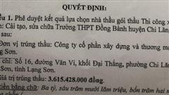 Sở Giáo dục và Đào tạo Lạng Sơn 'ưu ái' đơn vị không đủ năng lực trúng thầu?