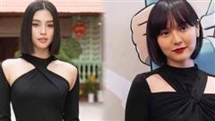 Vô tình đụng áo khoét sâu cá tính giữa scandal, Hải Tú bị Hoa hậu Tiểu Vy 'chặt đẹp'