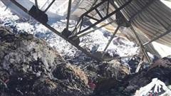 Cháy lớn thiêu rụi kho vải 350 m2 tại huyện Hóc Môn