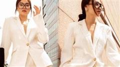Ninh Dương Lan Ngọc lên đồ như nữ 'tổng tài' đầy quyền lực trong bộ suit trắng