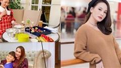 Ngắm gu thời trang tinh tế, nổi bật của bà bầu Bảo Thanh