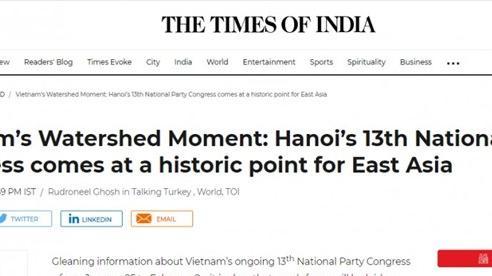 Đại hội XIII của Đảng: Truyền thông Ấn Độ đánh giá cao vai trò của Việt Nam trong khu vực