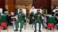 Tuổi trẻ Học viện Khoa học Quân sự hiến máu tình nguyện