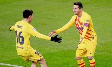 Clip Messi lập cú đúp đưa Barca vào top 3 La Liga