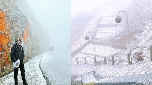 Dân mạng share loạt ảnh và clip Sa Pa có tuyết rơi, từ sáng sớm nay đã trắng trời