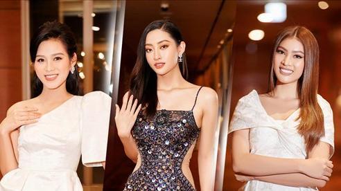 Hoa hậu Việt Nam - Đỗ Thị Hà kiều diễm với váy lệch vai nhưng Lương Thùy Linh đẹp quyến rũ quá lấn át