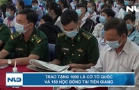 Trao tặng 1.000 lá cờ Tổ quốc và 150 học bổng tại Tiền Giang