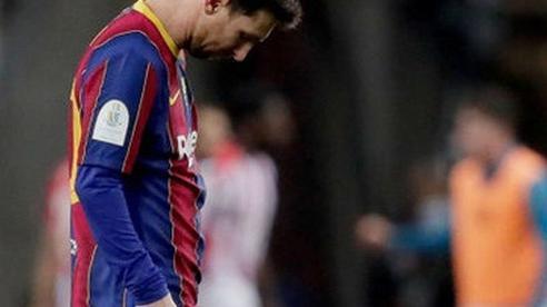 Messi ăn thẻ đỏ, Barca thất bại ở chung kết Siêu Cúp Tây Ban Nha