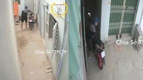 Trộm lẻn vào khu nhà trọ vắng người, 'thong thả' bẻ khóa xe máy trong sân