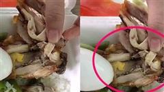 Đặt suất cơm đùi gà 25.000 đồng ăn trưa, cô gái 'té ngửa' phát hiện 1 đống con giòi chết trắng bên trong