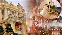 Chân dung cô dâu chú rể 'trâm anh thế phiệt' trong đám cưới khủng ở lâu đài dát vàng: Hé lộ màn khóa môi ngọt ngào của cặp đôi