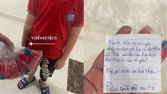 Tặng bạn gái cùng lớp hộp kẹo và lá thư, cậu nhóc khiến người chị 'chết lặng' vì dòng chữ trên giấy