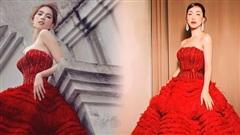 Diện váy đỏ bồng xoè: Hoà Minzy 'quẩy' khuyên tai sang chảnh, Ngọc Trinh đơn giản bất ngờ