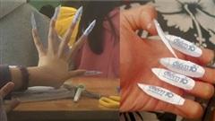 Nữ sinh làm nails bằng giấy ghi toàn điểm 10 khiến dân mạng cười ra nước mắt