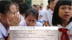 Đề thi 'gây lú' khiến học sinh mếu máo không biết chọn đáp án nào, dân mạng thi nhau bàn tán