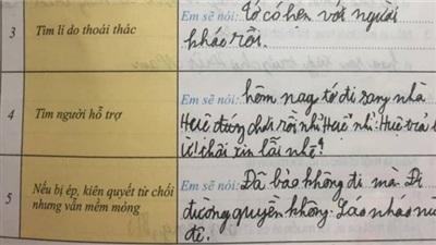 Cô giáo giao đề bài 'cách từ chối bạn', cậu nhóc vận dụng đủ lý lẽ nhưng pha bẻ lái cuối cùng mới khiến dân mạng 'tá hỏa'