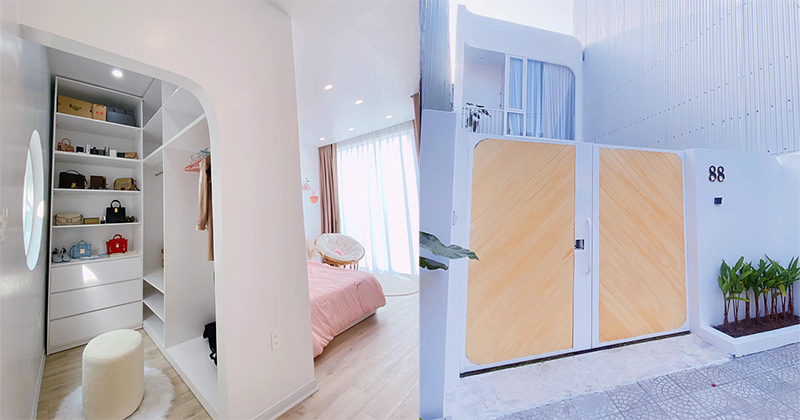 Căn nhà 'trong mơ' với một màu trắng trong trẻo của vợ chồng trẻ khiến dân tình kháo nhau hỏi 'giá'