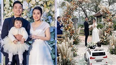 Loạt khoảnh khắc ấn tượng trong 3 tiệc cưới của Tiến Dũng - Khánh Linh: Bé Sushi tiến vào lễ đường 'giật spotlight'