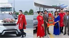 Không thể vào Quảng Ninh đón dâu, nhà trai Hải Phòng trao lễ luôn cho nhà gái ngay trạm BOT?