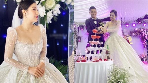 Cô dâu Khánh Linh trong ngày cưới tại Hà Tĩnh: Diện váy cưới 'đỉnh của chóp', không ngại khoe vòng 1 cực sexy