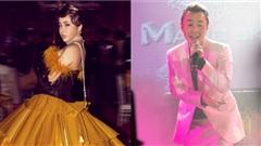 'Nữ hoàng dao kéo' diện đồ 'cồng kềnh' dự sự kiện, Binz 'bad boy' vẫn trung thành với set đồ 'full hồng'