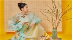 Thái Tuyết Trâm ngọc ngà, kiêu sa trong bộ ảnh đón Xuân 2021