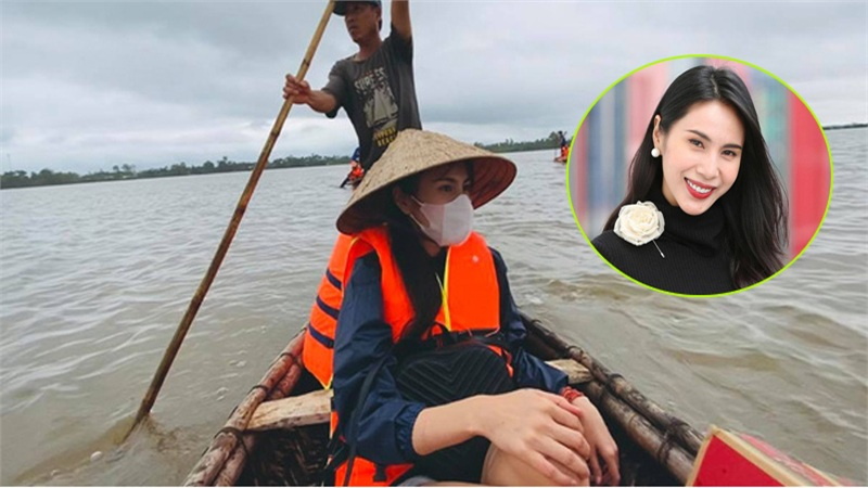 Thủy Tiên ám ảnh vì suýt lật thuyền khi đi cứu trợ miền Trung