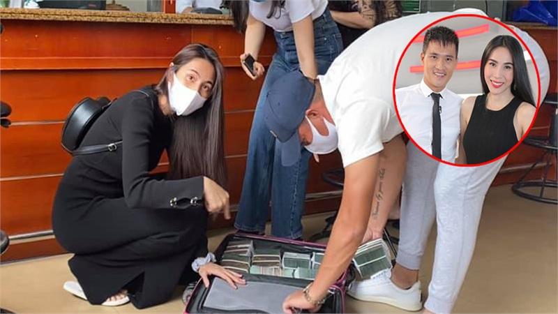 Vừa quay lại miền Trung, Thủy Tiên nhanh chóng chia team hoạt động viện trợ, gọi chồng là 'bảo vệ xách vali tiền'