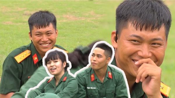 'Sao nhập ngũ' 2020: Đồng chí mũi trưởng Long 'bật chế độ hóng cực mạnh' xem Khánh Vân vào vai Trà Long 'cưa cẩm chú Ngạn'